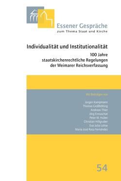 Essener Gespräche zum Thema Staat und Kirche, Band 54 von Schlagheck,  Michael, Uhle,  Arnd