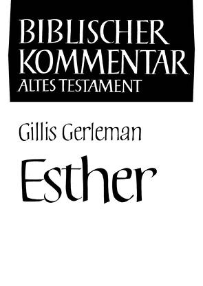 Esther von Gerleman,  Gillis, Herrmann,  Siegfried, Meinhold,  Arndt, Schmidt,  Werner H., Thiel,  Winfried, Wolff,  Hans Walter