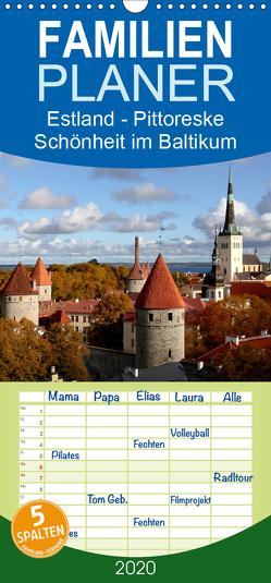 Estland – Pittoreske Schönheit im Baltikum – Familienplaner hoch (Wandkalender 2020 , 21 cm x 45 cm, hoch) von Becker,  Bernd