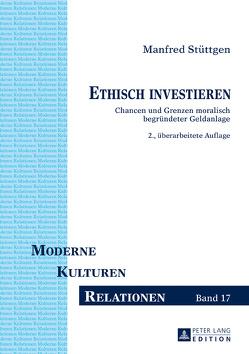 Ethisch investieren von Stüttgen,  Manfred