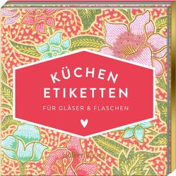 Etiketten für Gläser und Flaschen (Pinke Blumen, Hölker Küchenpapeterie)