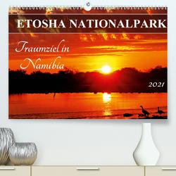 ETOSHA NATIONALPARK Traumziel in Namibia (Premium, hochwertiger DIN A2 Wandkalender 2021, Kunstdruck in Hochglanz) von Woyke,  Wibke