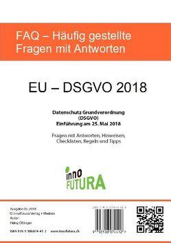 EU – DSGVO 2018 von Heinz,  Oftinger