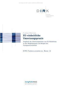 EU-einheitliche Umsetzungspraxis von Preising,  Florian
