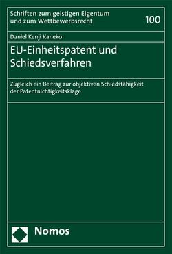 EU-Einheitspatent und Schiedsverfahren von Kaneko,  Daniel Kenji