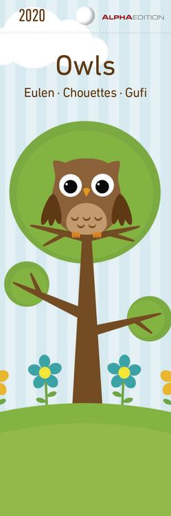 Eulen 2020 – Lesezeichenkalender (5,5 x 16,5) – Owls – Tierkalender – Gadget – Lesehilfe – Geschenkidee von ALPHA EDITION