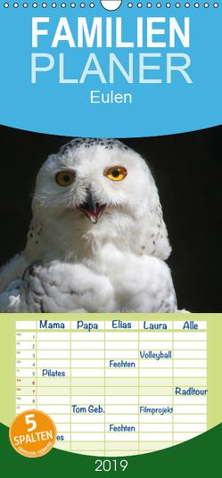 Eulen – Familienplaner hoch (Wandkalender 2019 , 21 cm x 45 cm, hoch) von - Antje Lindert Rottke + Martina Berg,  Pferdografen.de