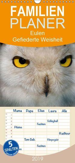 Eulen. Gefiederte Weisheit – Familienplaner hoch (Wandkalender 2019 , 21 cm x 45 cm, hoch) von Stanzer,  Elisabeth