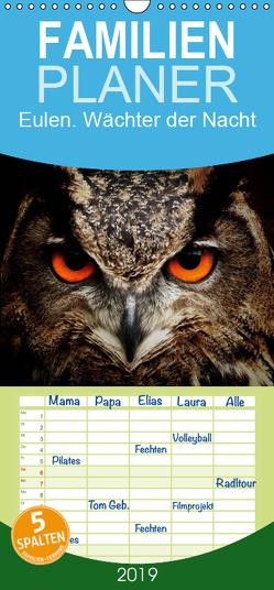 Eulen. Wächter der Nacht – Familienplaner hoch (Wandkalender 2019 , 21 cm x 45 cm, hoch) von Stanzer,  Elisabeth
