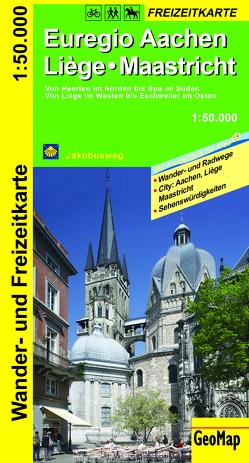 Euregio Aachen, Liege, Maastricht Wander- und Freizeitkarte