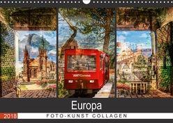 Europa Foto-Kunst Collagen (Wandkalender 2018 DIN A3 quer) von Steiner / Matthias Konrad,  Carmen