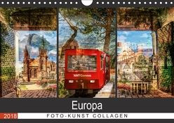 Europa Foto-Kunst Collagen (Wandkalender 2018 DIN A4 quer) von Steiner / Matthias Konrad,  Carmen