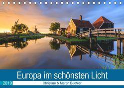 Europa im schönsten Licht (Tischkalender 2019 DIN A5 quer) von Büchler & Martin Büchler,  Christine