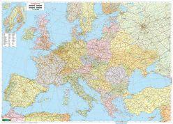 Europa politisch, Poster 1:3,5 Mio., Metallbestäbt in Rolle