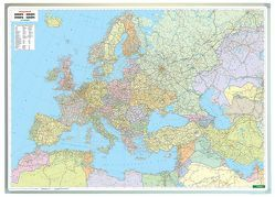 Europa politisch, Wandkarte 1:3,5 Mio., Magnetmarkiertafel