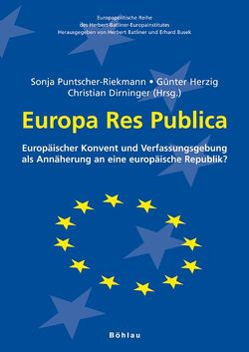 Europa Res Publica von Dirninger,  Christian, Herzig,  Günter, Pausch,  Markus, Puntscher-Riekmann,  Sonja