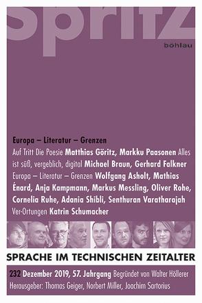 Europa – Literatur – Grenzen von Geiger,  Thomas, Miller,  Norbert, Sartorius,  Joachim