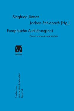 Europäische Aufklärung(en) von Jüttner,  Siegfried, Schlobach,  Jochen