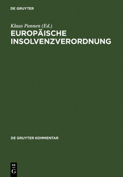Europäische Insolvenzverordnung von Pannen,  Klaus