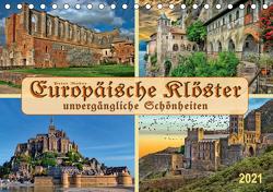 Europäische Klöster – unvergängliche Schönheiten (Tischkalender 2021 DIN A5 quer) von Roder,  Peter