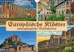 Europäische Klöster – unvergängliche Schönheiten (Wandkalender 2019 DIN A4 quer) von Roder,  Peter