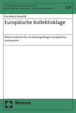 Europäische Kollektivklage von Kowollik,  Eva-Maria