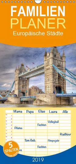 Europäische Städte – Familienplaner hoch (Wandkalender 2019 , 21 cm x 45 cm, hoch) von (Thorsten Jung),  TJPhotography