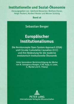 Europäischer Institutionalismus von Berger,  Sebastian