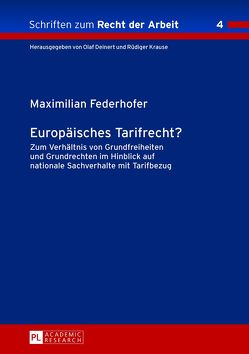 Europäisches Tarifrecht? von Federhofer,  Maximilian