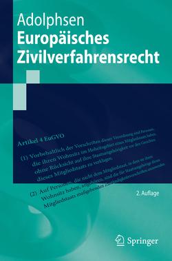 Europäisches Zivilverfahrensrecht von Adolphsen,  Jens