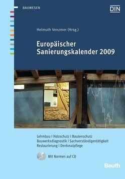Europäischer Sanierungskalender 2009 von Venzmer,  Helmuth