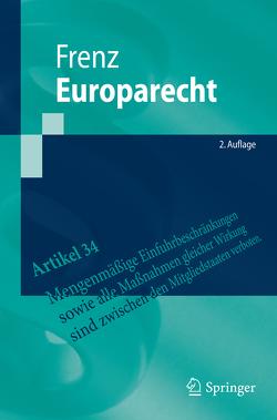 Europarecht von Frenz,  Walter