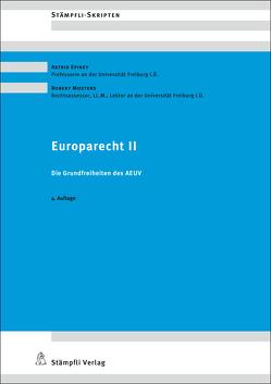 Europarecht II von Epiney,  Astrid, Mosters,  Robert