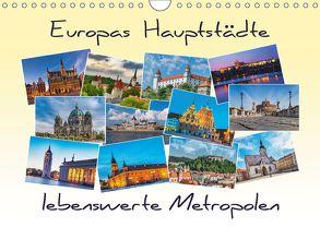 Europas Hauptstädte – lebenswerte Metropolen (Wandkalender 2018 DIN A4 quer) von Kirsch,  Gunter