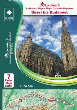 EuroVelo 6 (Basel – Budapest) 1: 100 000