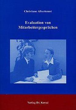 Evaluation von Mitarbeitergesprächen von Alberternst,  Christiane