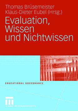 Evaluation, Wissen und Nichtwissen von Brüsemeister,  Thomas, Eubel,  Klaus-Dieter