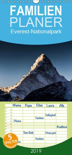 Everest-Nationalpark – Familienplaner hoch (Wandkalender 2019 , 21 cm x 45 cm, hoch) von Koenig,  Jens