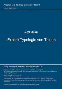 Exakte Typologie von Texten von Mistrík,  Jozef
