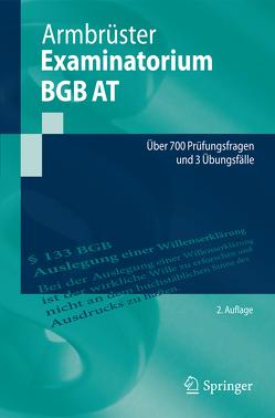 Examinatorium BGB AT von Armbrüster,  Christian