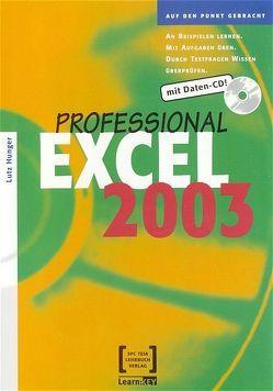 Excel 2003 Professional von Hunger,  Lutz
