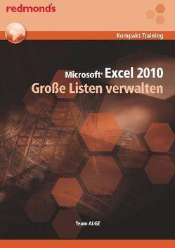 EXCEL 2010 GROSSE LISTEN VERWALTEN