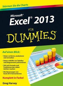 Excel 2013 für Dummies von Harvey,  Greg, Lambrich,  Sabine