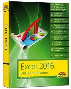 Excel 2016 – Das Kompendium – komplett in Farbe: das große Praxiswissen in einem Buch: Diagramme, Formeln und Funktionen, VBA, Grundlagen und vieles mehr von Schels,  Ignatz