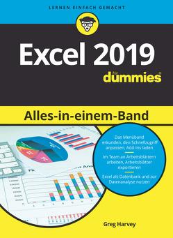 Excel 2019 Alles in einem Band für Dummies von Harvey,  Greg, Muhr,  Judith
