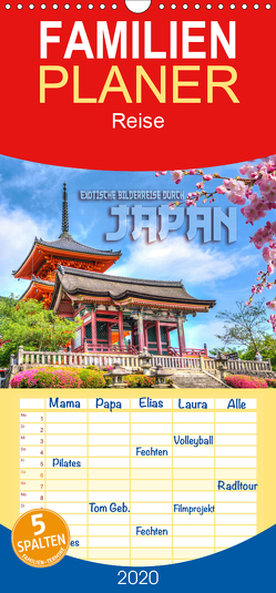 Exotische Bilderreise durch Japan – Familienplaner hoch (Wandkalender 2020 , 21 cm x 45 cm, hoch) von Bleicher,  Renate