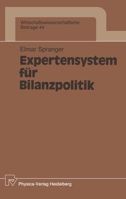 Expertensystem für Bilanzpolitik von Spranger,  Elmar