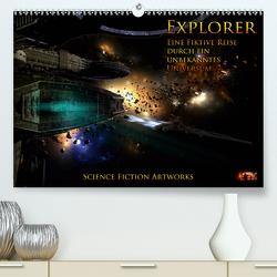 Explorer – Vol. II – Eine fiktive Reise durch ein unbekanntes Universum – Science Fiction Artworks (Premium, hochwertiger DIN A2 Wandkalender 2021, Kunstdruck in Hochglanz) von Heyer (MtP Art),  Mario