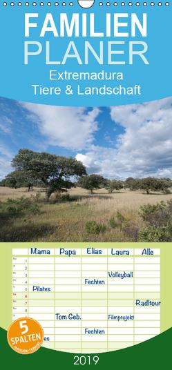 Extremadura, Tiere & Pflanzen – Familienplaner hoch (Wandkalender 2019 , 21 cm x 45 cm, hoch) von Martin,  Christof