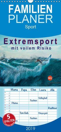 Extremsport – mit vollem Risiko – Familienplaner hoch (Wandkalender 2019 , 21 cm x 45 cm, hoch) von Roder,  Peter